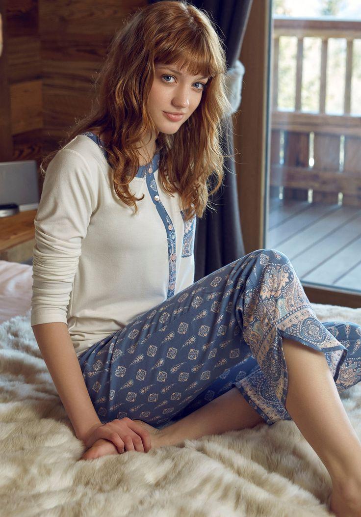Penye Mood 7813 Bayan Pijama Takım | Mark-ha.com