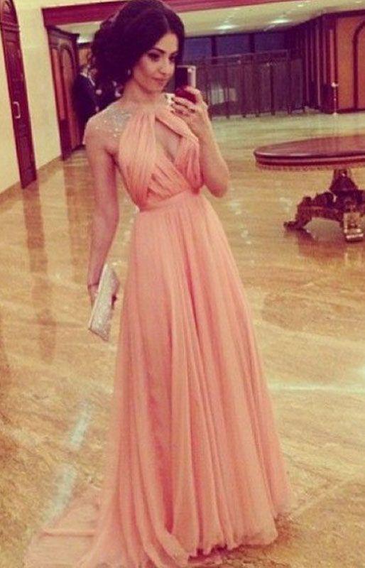 Chiffon Beading Prom Dress,A-Line Prom Dress,Charming Prom Dress,Sexy Evening…