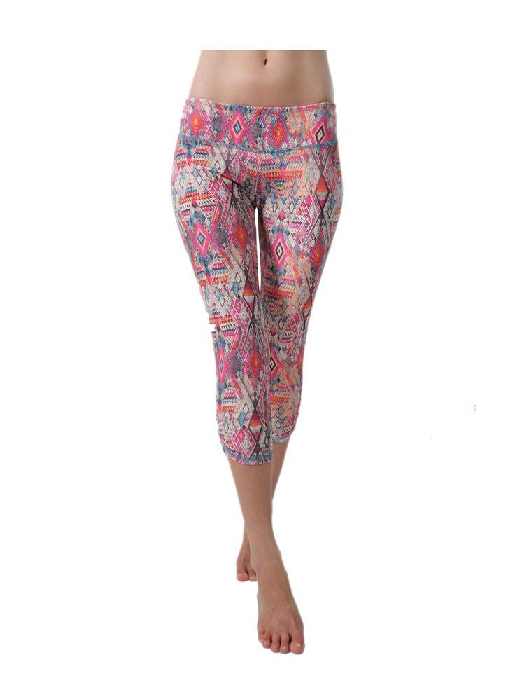 Amazon.com: Jala Clothing Women's Sup Yoga Capri L Navajo: Clothing