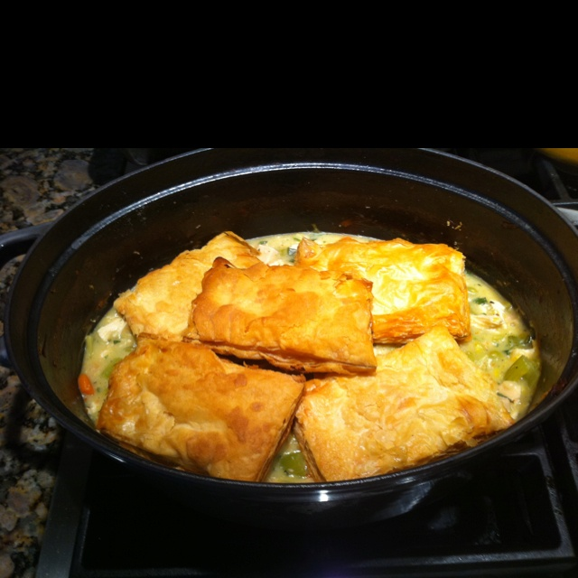Chicken pot pie with puff pastry | recipes | Pinterest