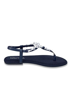 Love this Navy & White Nautical Sandal by Nautica on #zulily! #zulilyfinds