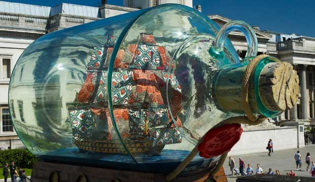 Yinka Shonibare's Nelson's Ship in a Bottle, a temporary commission in Trafalgar Square