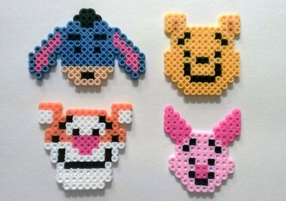 Winnie The Pooh and Pals perler beads by SkellieBeads