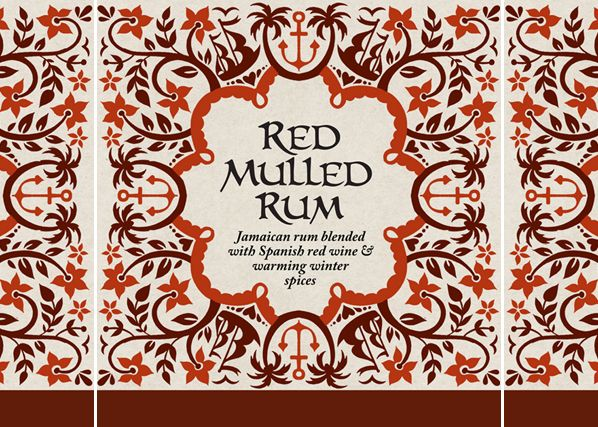 Red Mulled Rum pattern / package design