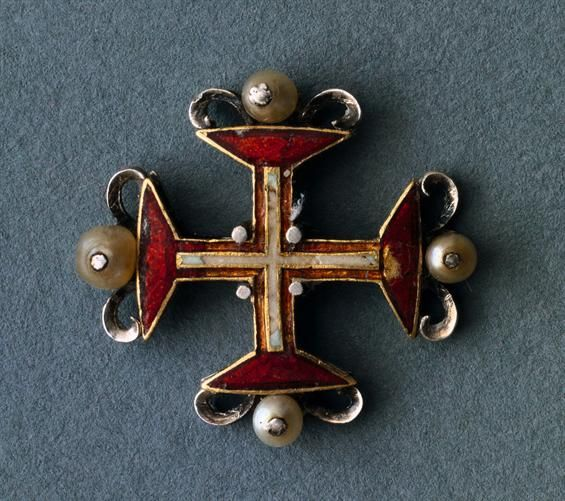 1 feb 13.  [Antique XVII Century Portuguese Cross Pin]