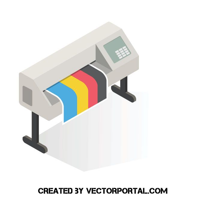 printer vector clip art printer vector vector images free vector illustration pinterest
