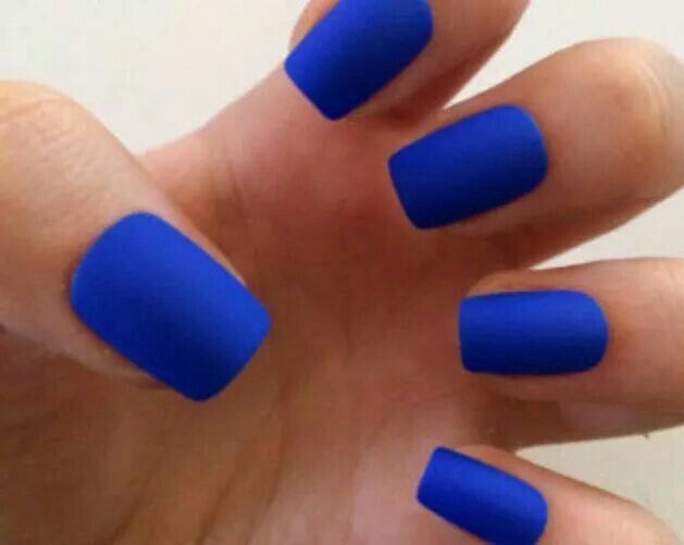 I so wanna find a matte royal blue polish for prom!!
