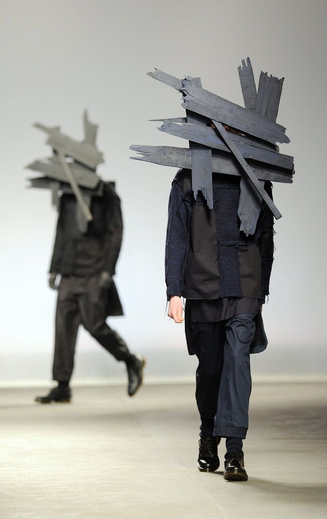 MAN Fall 2013. What do you think would best go with the wooden headpieces?