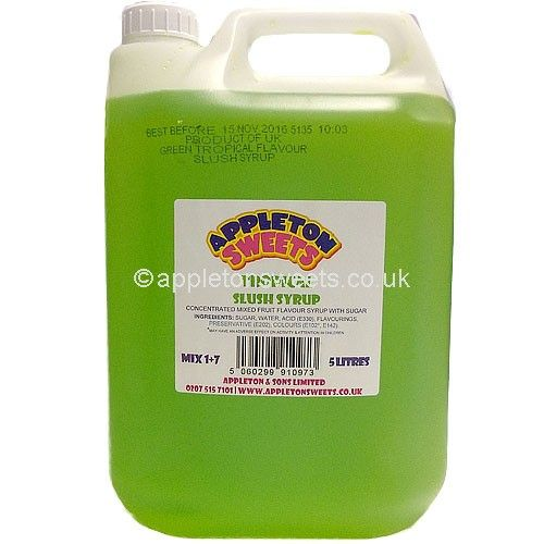 These are a 5 litre large tub of tropical flavour syrup that make great ice cold slush puppies drinks.