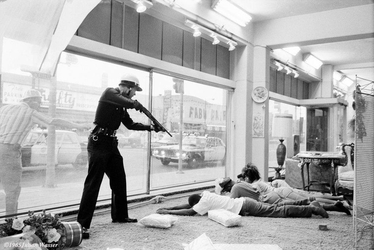 LAPD Watts Riot looters Julian Wasser, 1965 The