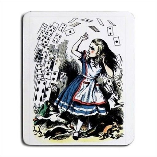 Alice In Wonderland Falling Cards Tinted Computer Mouse Pad #Aliceinwonderland #mousepad #character