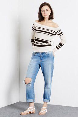 Stripe Bardot Jumper