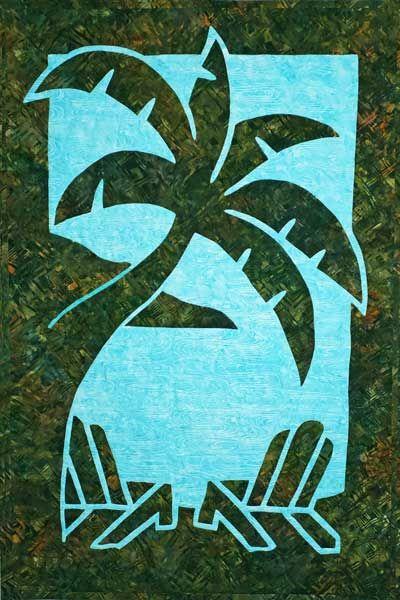 Paradise 2 Fabric Applique Quilt pattern
