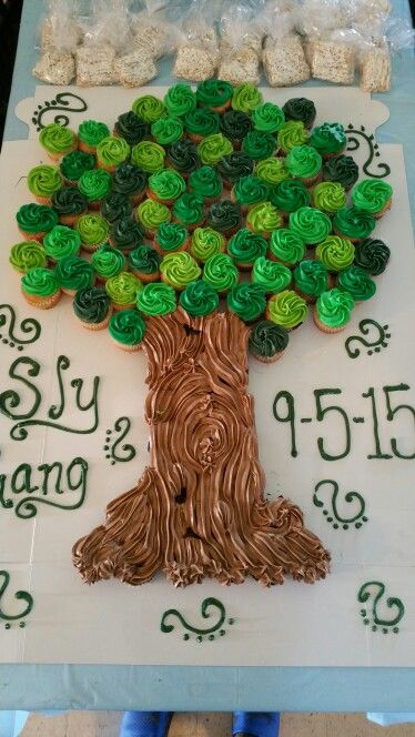 Cupcake Family Tree Cake!!                                                                                                                                                                                 More