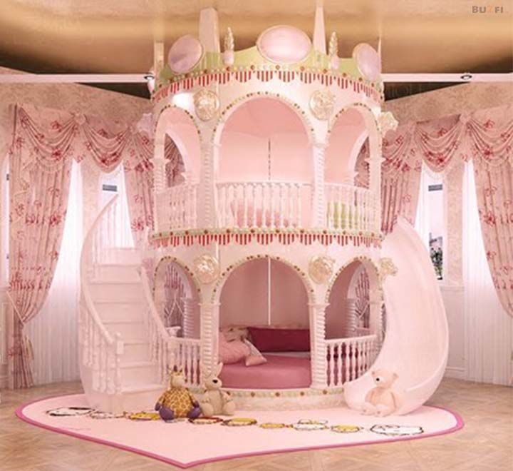 Beautiful Unique Children S Pink Castle Bed Princess