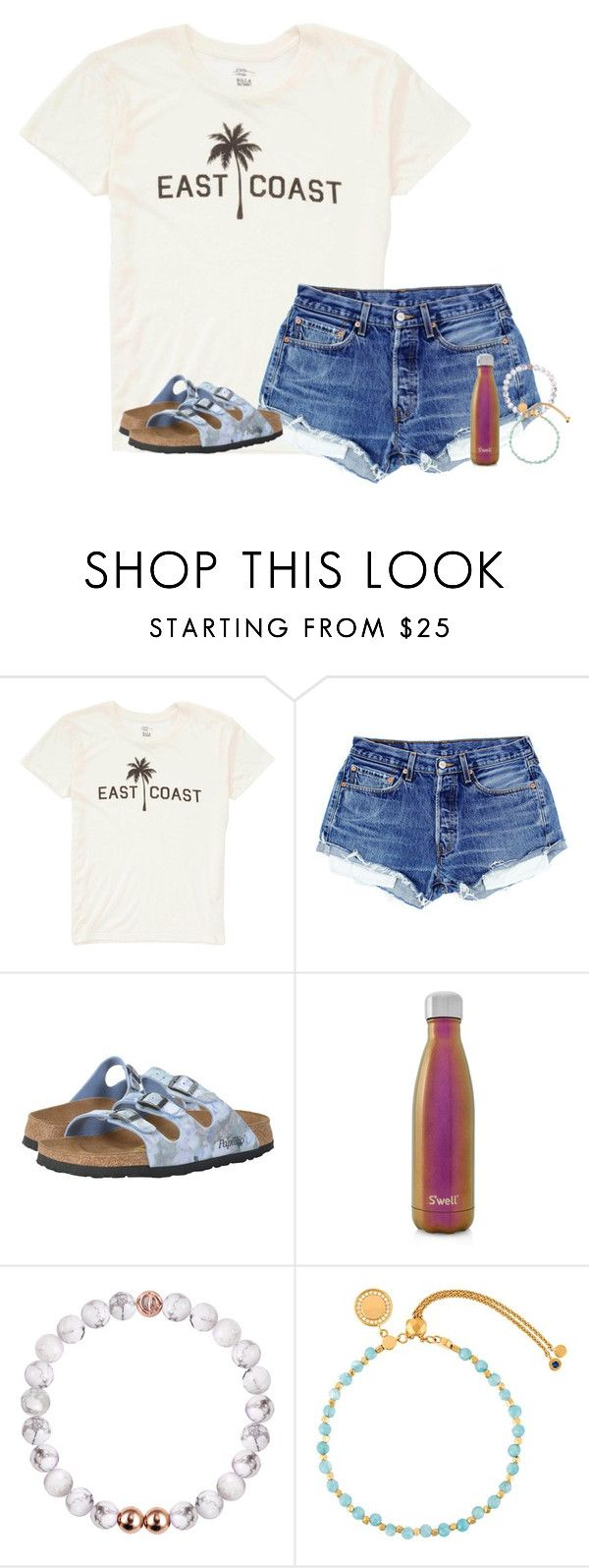 """""""east coast>>>"""" by annalavelle13 ❤ liked on Polyvore featuring Billabong, Birkenstock, S'well and Astley Clarke"""