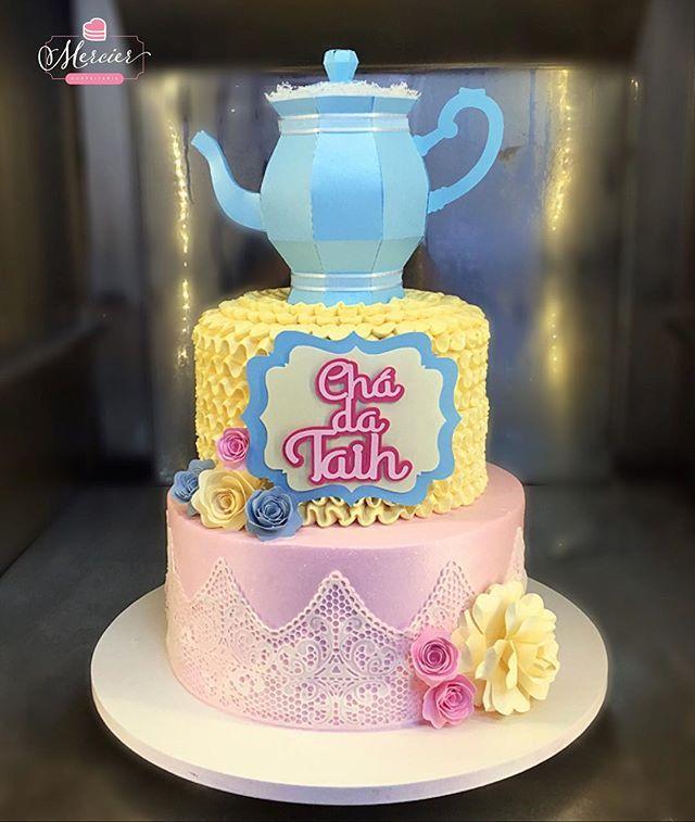 Bolo Em Chantininho Pra Cha De Cozinha Bolochadecozinha Cake