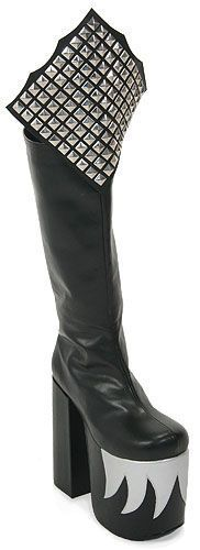 KISS GENE SIMMONS HALLOWEEN COSTUME ALIVE BOOTS - size 12-13