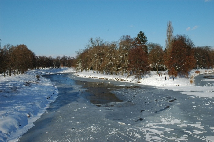 Winter time  at Hradec Kralove  na soutoku
