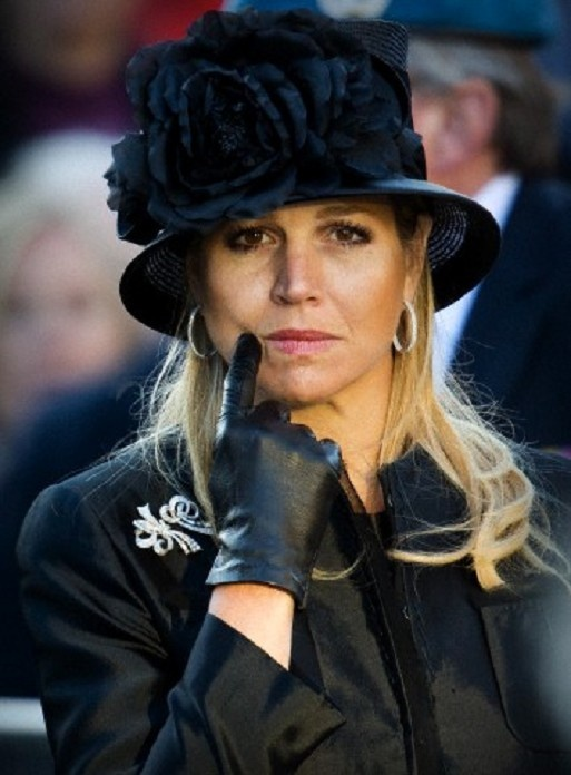 Queen Maxima of The Netherlands during the  National Remembrance ceremony in Amsterdam.
