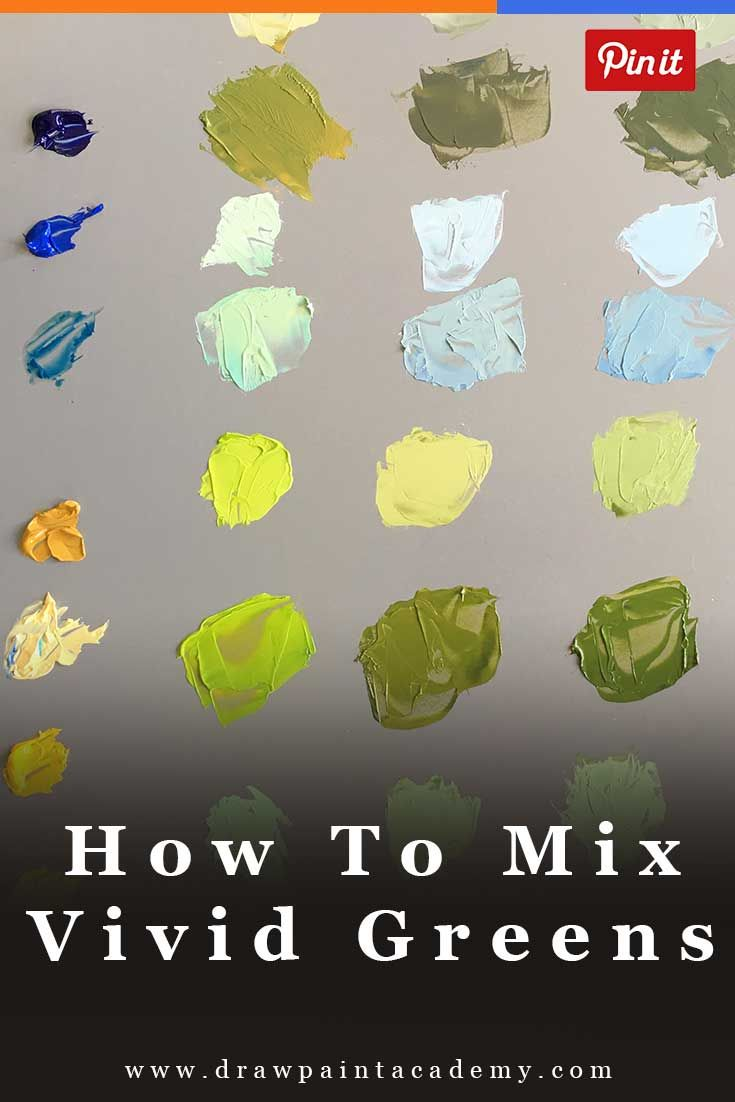 How To Mix Vivid Greens And Understanding Color Bias | Color Mixing | Painting For Beginners | Oil Painting Tips | Canvas Painting via @drawpaintacadem