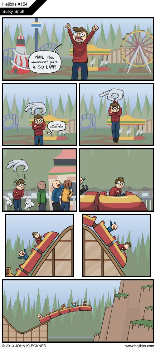 What tends to happen in Roller Coaster Tycoon