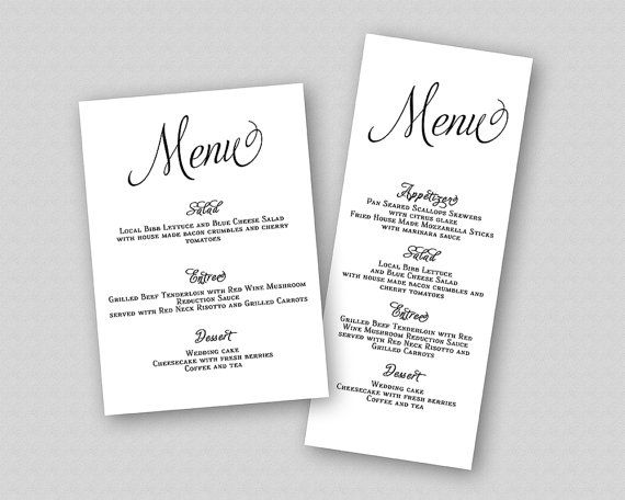 Amazing A La Carte Menu Template Gallery - Best Resume Examples by - a la carte menu template