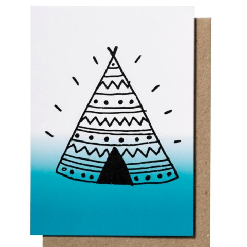 Teepee Ombre Greeting Card