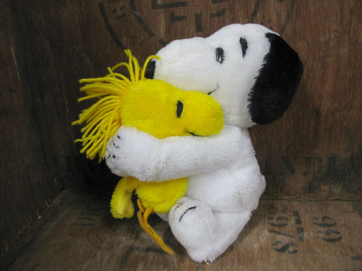 Snoopy And Woodstock Toys - Vintage Snoopy - Snoopy Toy - Plush Snoopy - Plush Woodstock - Vintage Peanuts - Snoopy Cuddly - Snoopy Cartoon by MissieMooVintageRoom on Etsy