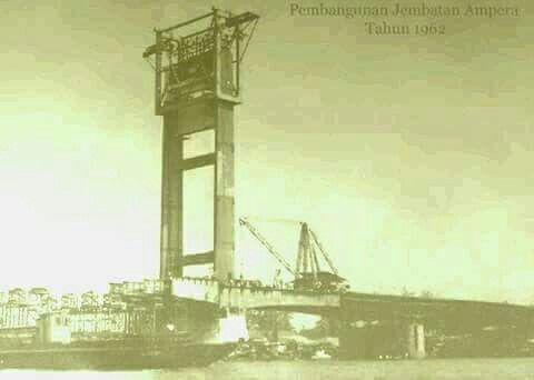 Pembangunan Jembatan Ampera, Palembang 1962