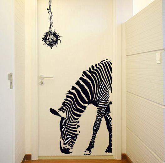 animal cebra adhesivo pegatina sticker decal vinilo para pared mural decoracin