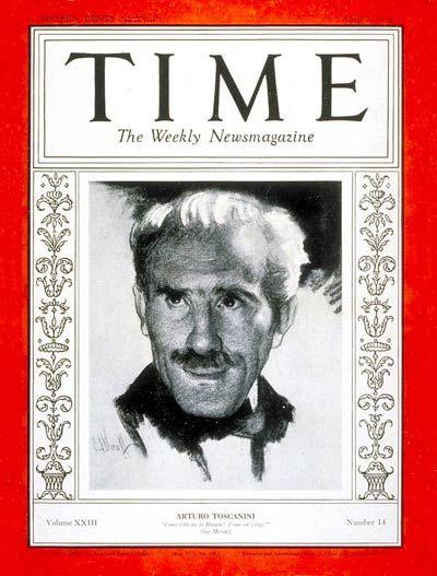 TIME Magazine Cover: Arturo Toscanini - Apr. 2, 1934 - Arturo Toscanini - Conductors - Classical Music - Music