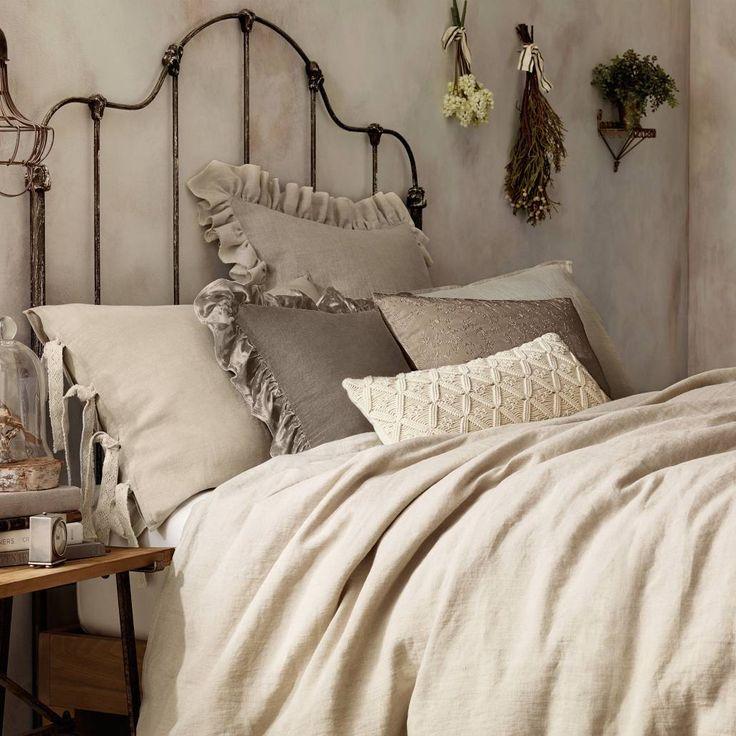 Wamsutta 174 Vintage Washed Linen Pillow Sham Linen Pillows