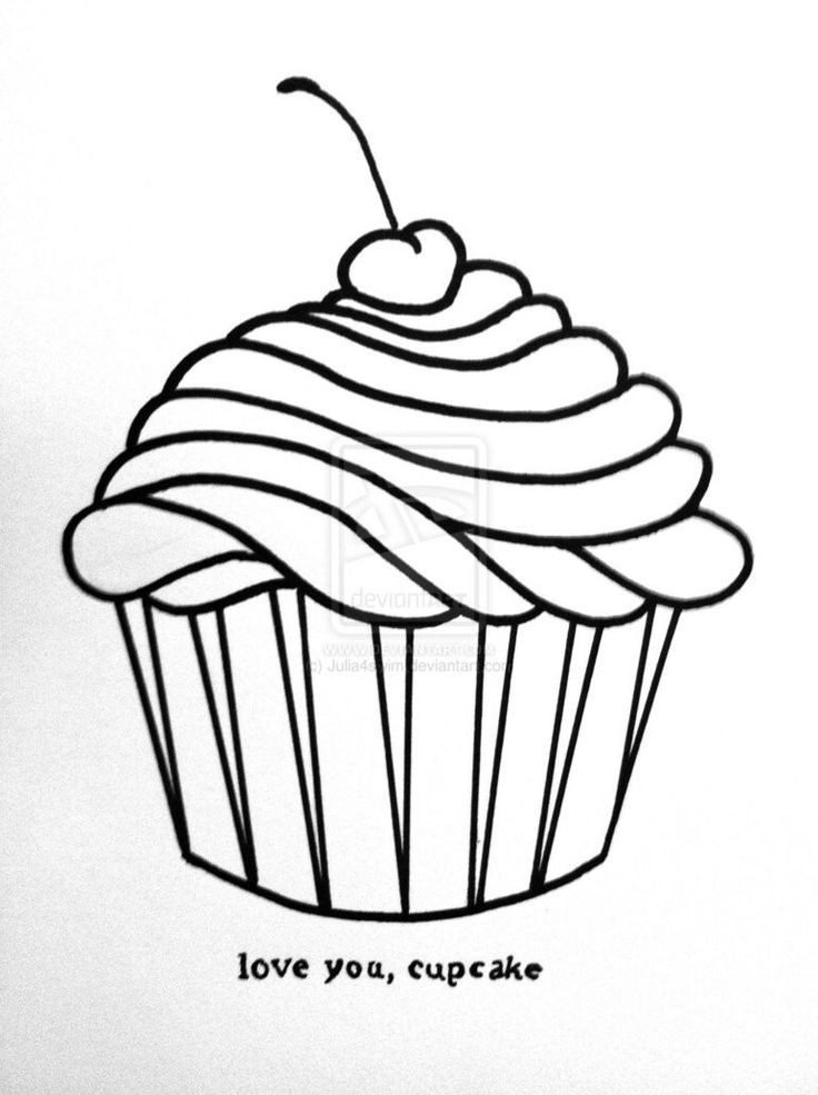 Cupcake Drawing Ice Cream Cupcakes Candy Drawings Google Searching Sweet Sketches Caramel