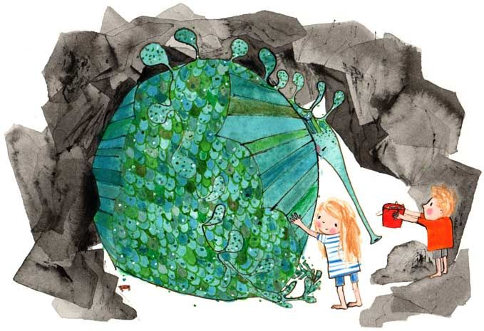Rebecca Cobb - The Lonely Sea Dragon by Helen Dunmore
