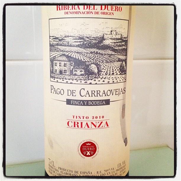 Hoy como con...  #Pago de Carraovejas #crianza 2010 #RiberadeDuero #vino #wine #sinpalabras #Padgram