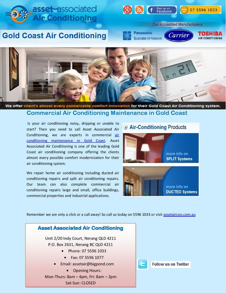 Then you need to call Asset Associated Air Conditioning, we are experts in commercial air conditioning maintenance in Gold Coast. Asset Associated Air Conditioning is one of the leading Gold Coast air conditioning company offering the clients almost every possible comfort modernization for their air conditioning system. For more information, Please contact us. Asset Associated Air Conditioning, 2/20 Indy Ct, Carrara, Gold Coast, QLD 4211, Ph: 07 5596 1033, http://www.assetaircon.com.au/