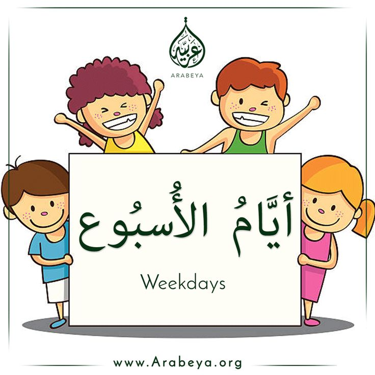 Weekdays in Arabic lan...