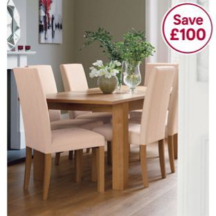 Schreiber Constable Extendable Table 6 Stone Fabric Chairs From Homebase Couk