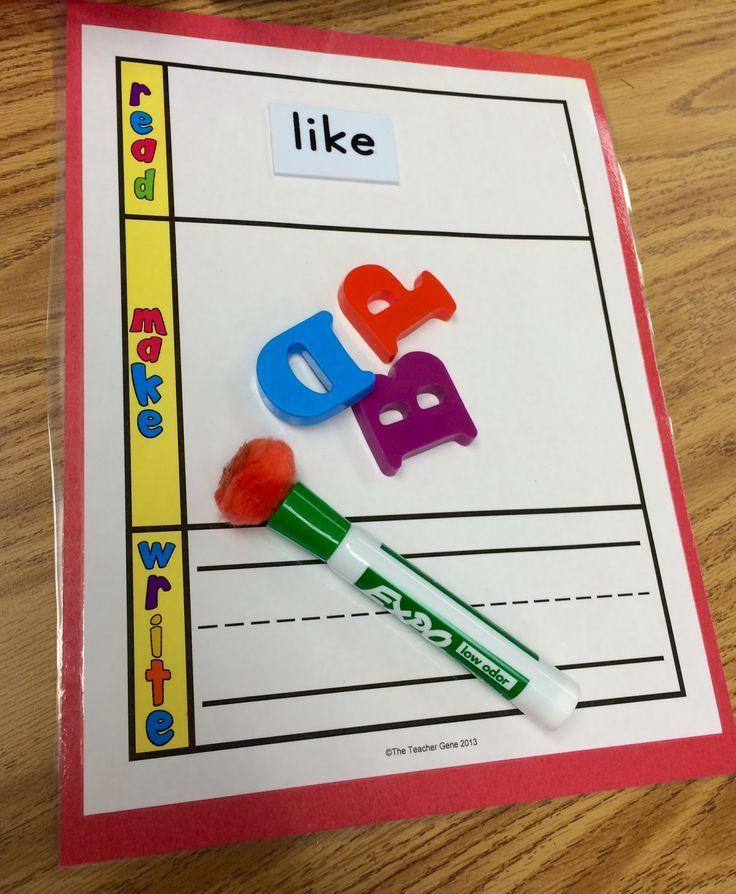 Kindergarten Is Crazy (Fun): Kindergarten Word Building Activities for Literacy Stations!