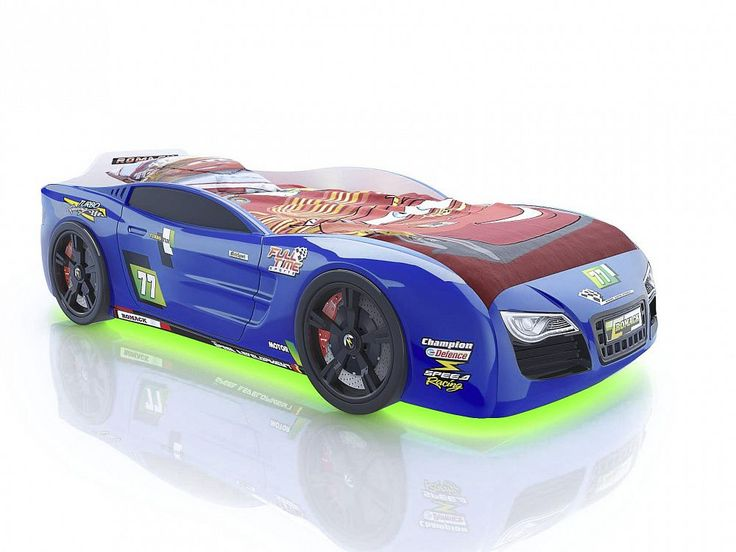 Кровать-машина Romack Renner 2 синяя