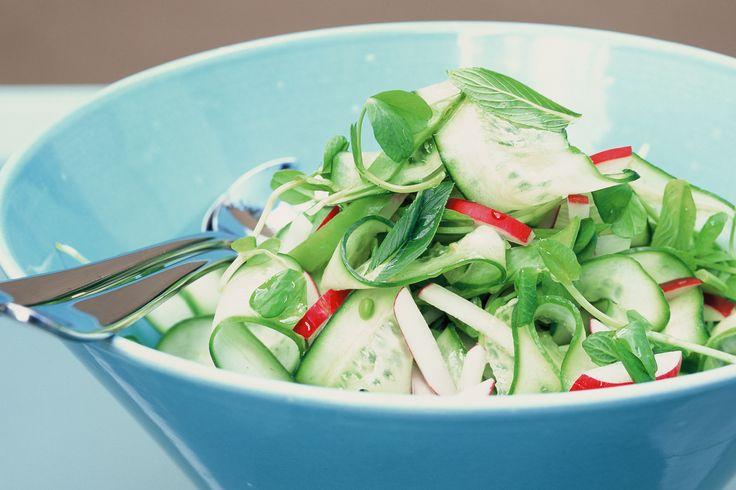 Cucumber Radish & Snow Pea Salad
