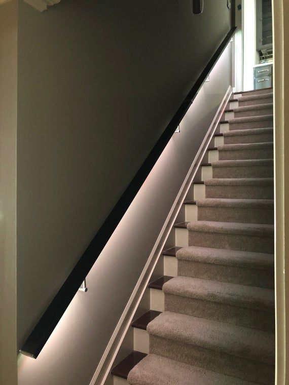 Led Square Flat Wall Mount Modern Stair Hand Rail Staircase Etsy In 2020 Modern Stairs Staircase Railings Home Stairs Design