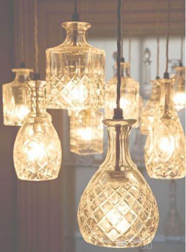 Belles carafes en verre à recycler pour en faire des luminaires #DIY
