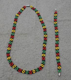 Collar de cadena y pulsera  joyas hechas a mano por Luv2Junk
