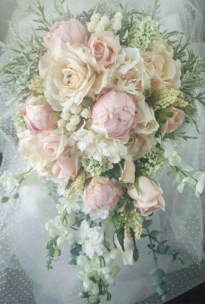45 Glamorous Blush Wedding Bouquets That Inspire Wedding Forward