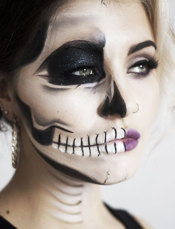 Halloween Tutorial: Edgy Half Face Skull - Nouvelle Daily