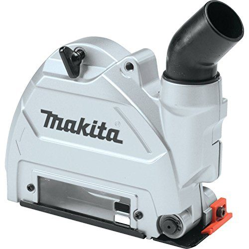 """Makita 196846-1 Dust Extracting Tuck Point Guard, 5"""":   The Makita 5"""" Dust Extracting Tuck Point Guard is designed to work with Makita 5"""" SJS Angle Grinders for tuck pointing applications. The cover features adjustable depth stops for more efficient work. The viewing window and guide make it easier for the user to make precision cuts. Pair this cover with the Makita 5"""" Dual Sandwich Tuck Point Wheel, A-96017, for the optimal user experience."""