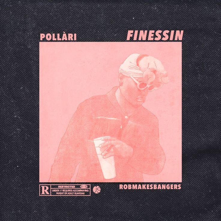 official cover artwork for pollàri's track 'finessin' https://soundcloud.com/robmakesbangers/pollari-finessin-prod-robmakesbangers