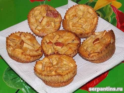 Диетические яблочные кексы